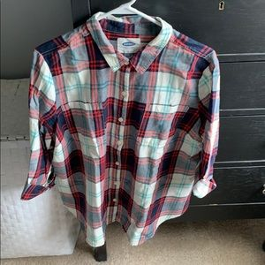 Old Navy Tops - Flannel plaid button down top